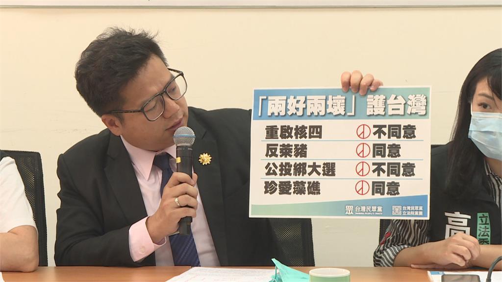 定調828四大公投態度 民眾黨:反對重啟核四