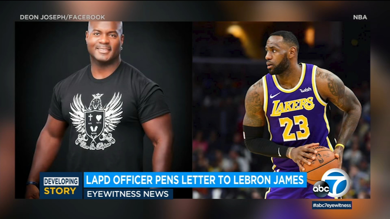 news.yahoo.com: LAPD officer pens letter to LeBron James after deleted tweet on police shooting