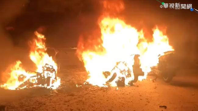 澎湖深夜火警 7機車燒毀4人嗆傷送醫