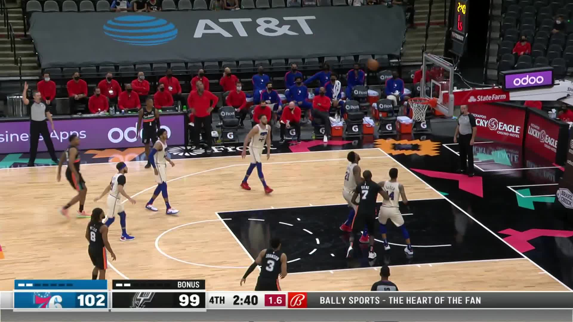 Game Recap: 76ers 113, Spurs 111