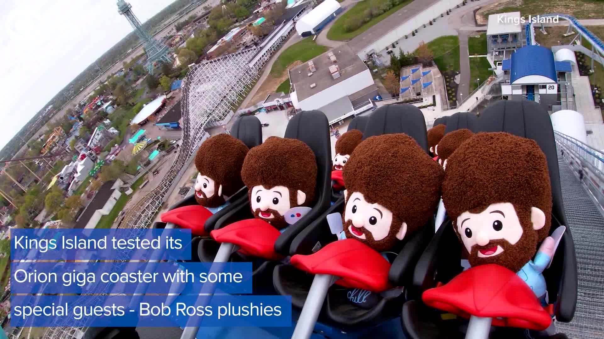 Bob Ross Plushies Ride On Roller Coaster