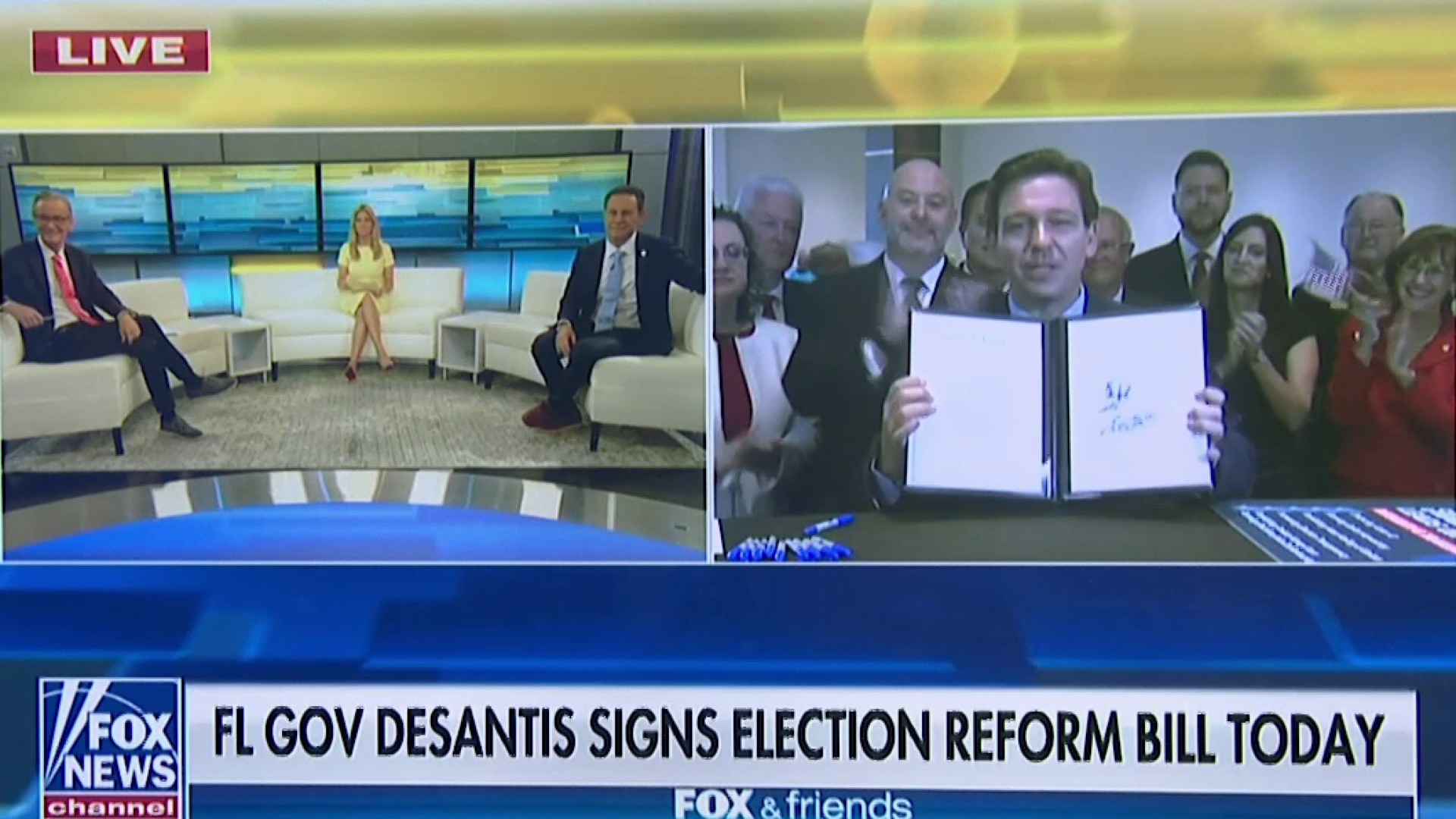 Florida Gov. Ron DeSantis Signs New Voting Restrictions Into Law