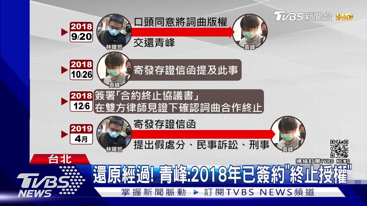 青峰4千字長文「心死」首談林暐哲要版權 心痛馨儀被牽連