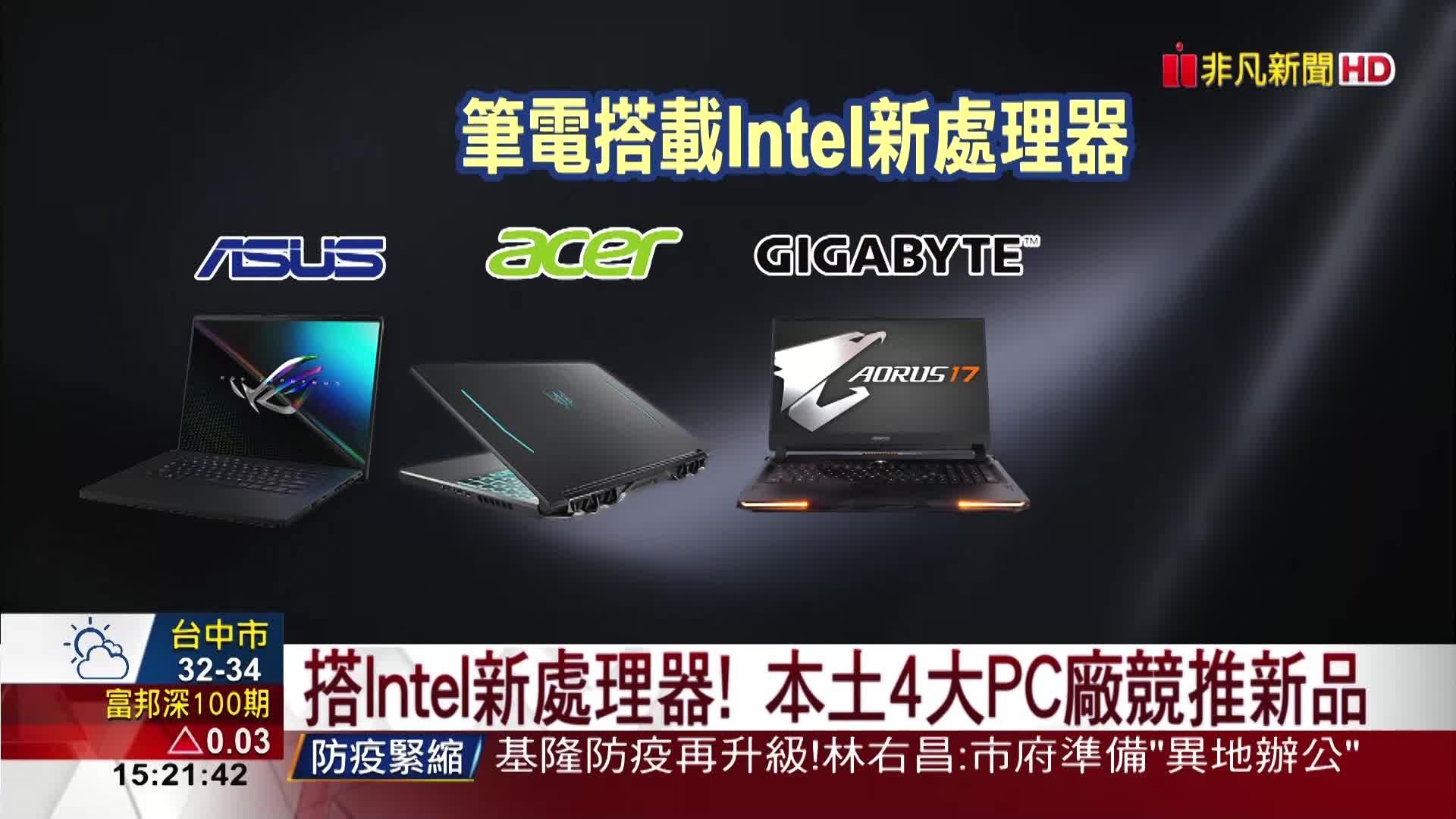 Intel啖電競財 新筆電CPU遊戲效能升21%