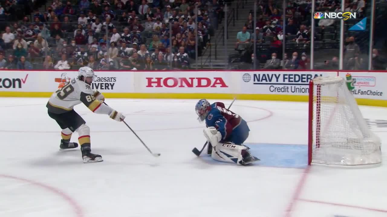 Philipp Grubauer with a Spectacular Goalie Save vs. Vegas Golden Knights