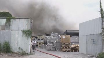 粉嶺坪輋電子廢料回收場二級火 無人傷