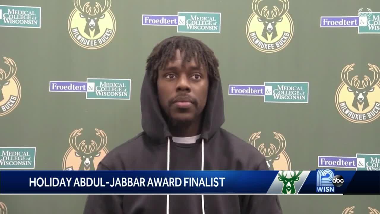 Bucks Jrue Holiday a finalist for NBA'S Kareem Abdul-Jabbar Social Justice Champion Award