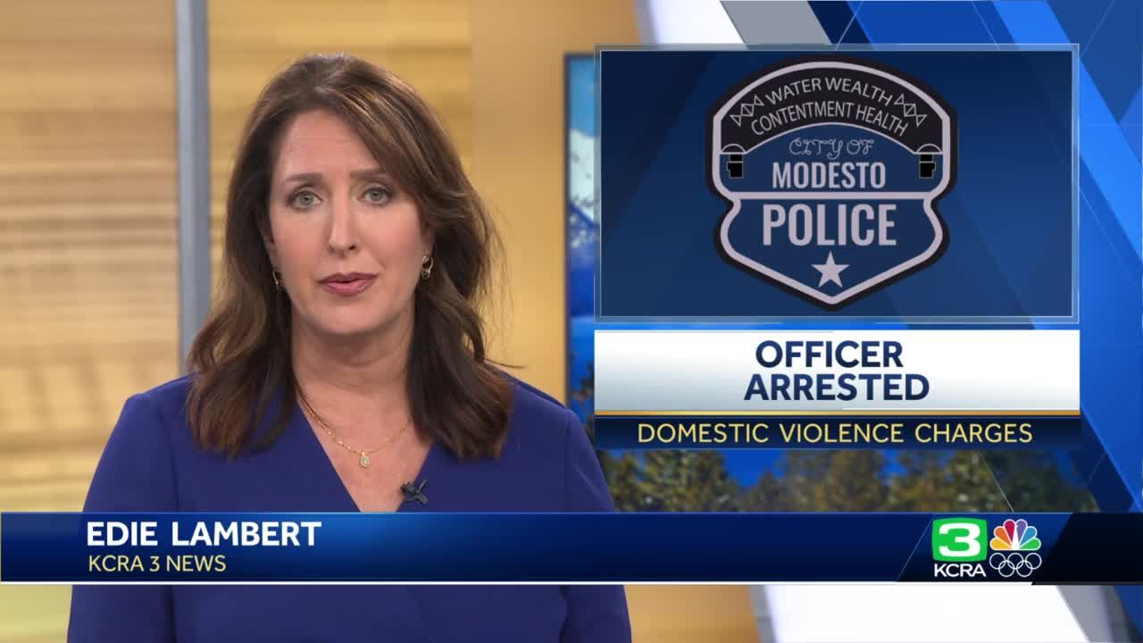 Modesto police officer arrested on domestic violence charges, department says