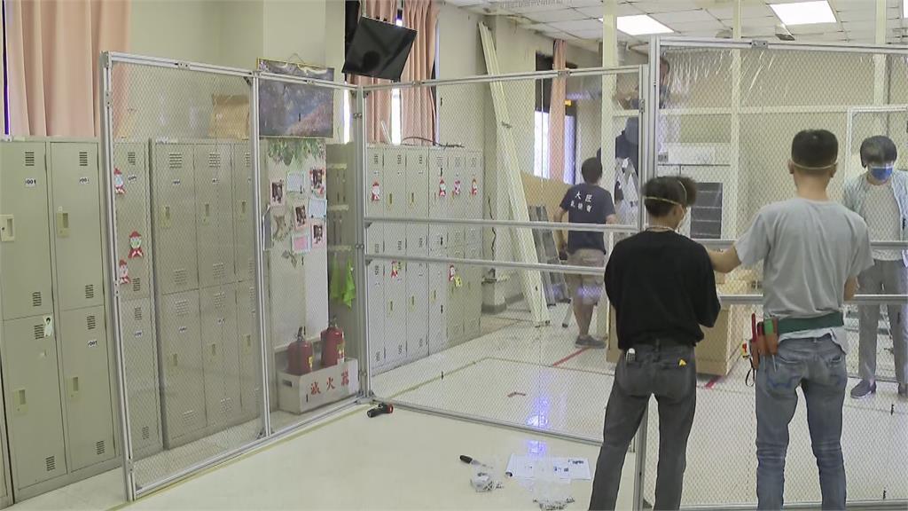 快新聞/負壓隔離艙組裝畫面曝 新光醫院:在內急救插管安全性更高