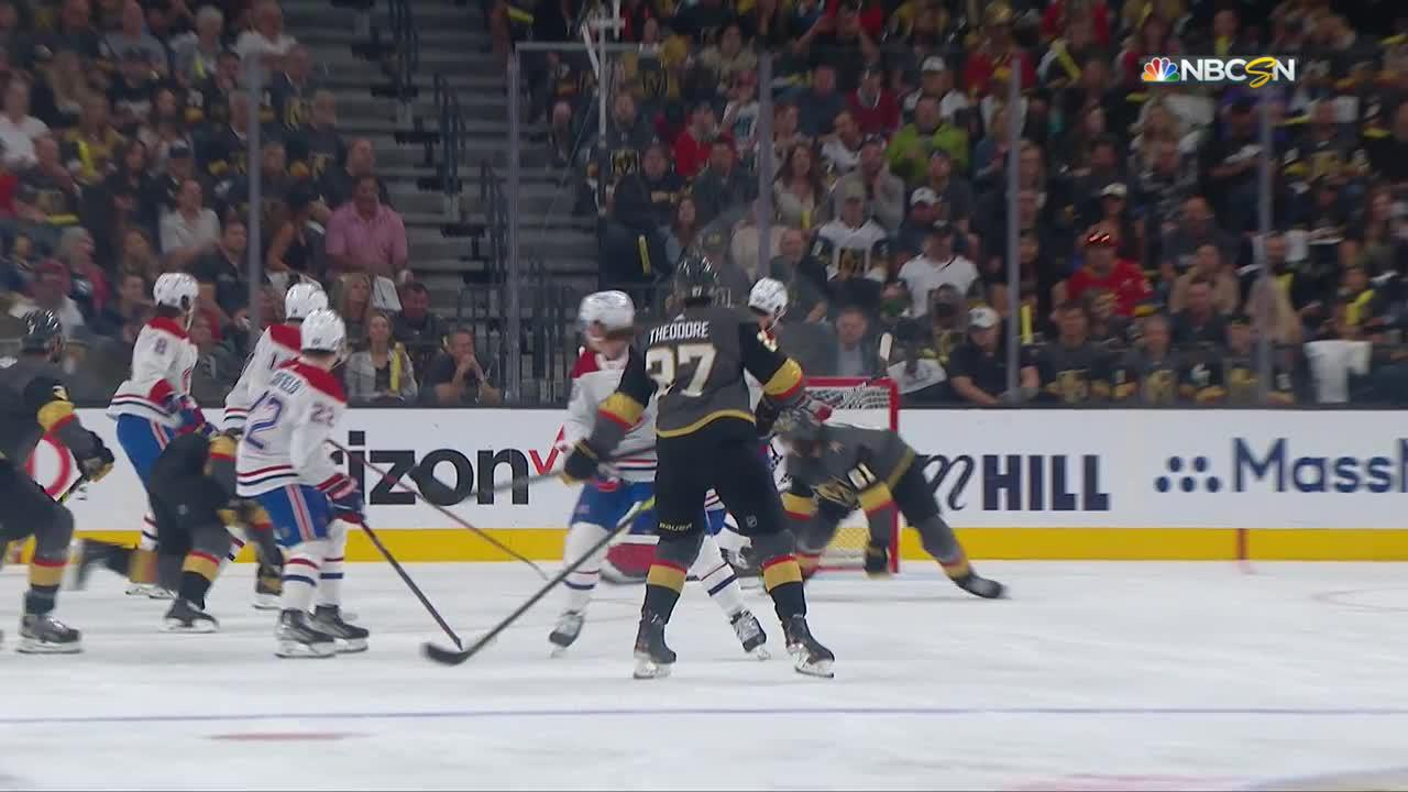 Shea Theodore with a Goal vs. Montreal Canadiens