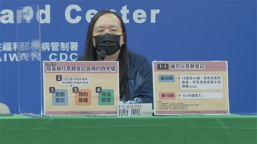 「唐鳳」疫苗預約平台 金馬澎今試辦 127萬人登錄