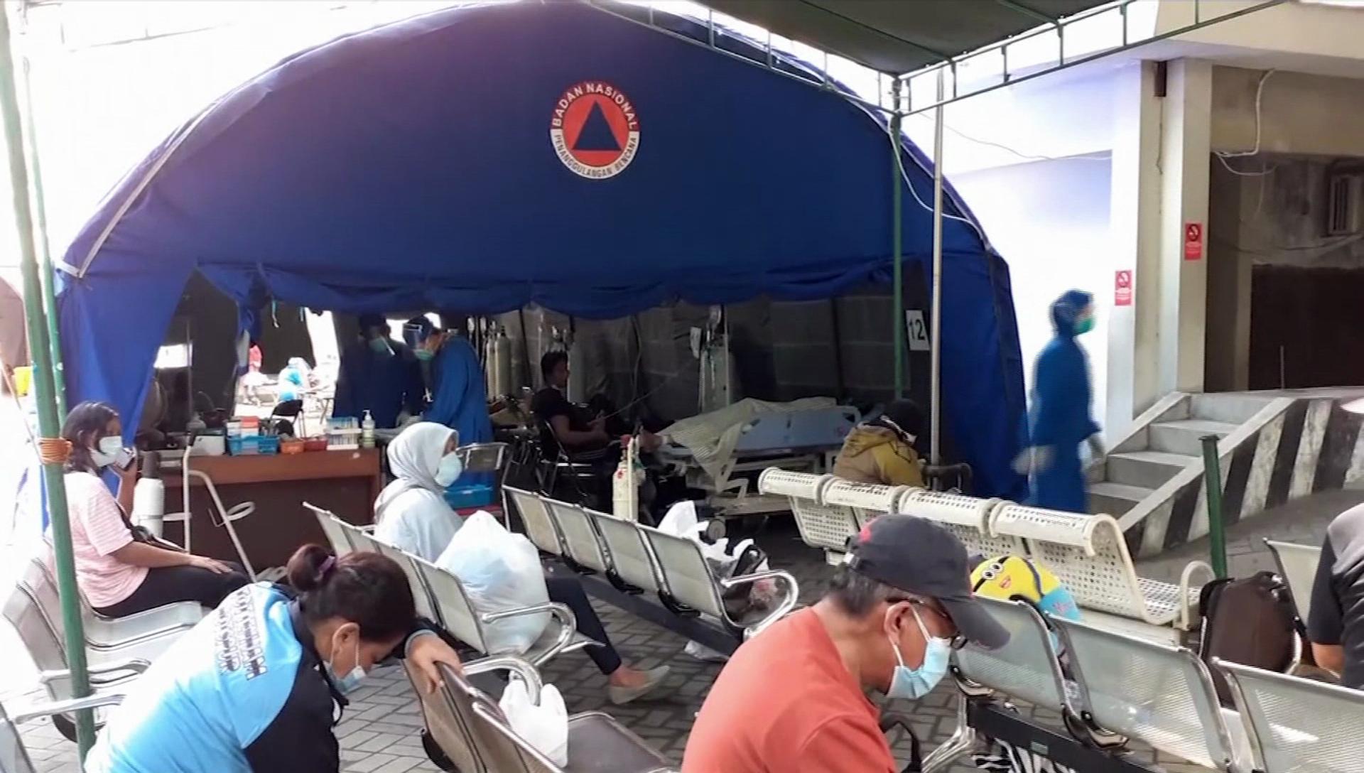 Delta病毒襲印尼! 醫療體系瀕崩潰、氧氣設備嚴重不足