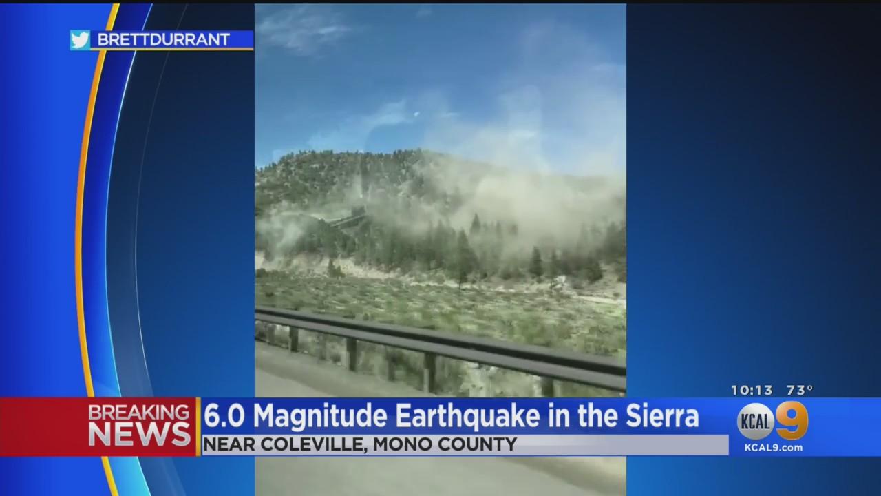 6.0 Earthquake Strikes Eastern Sierra Nevada; Shaking Felt In Bay Area