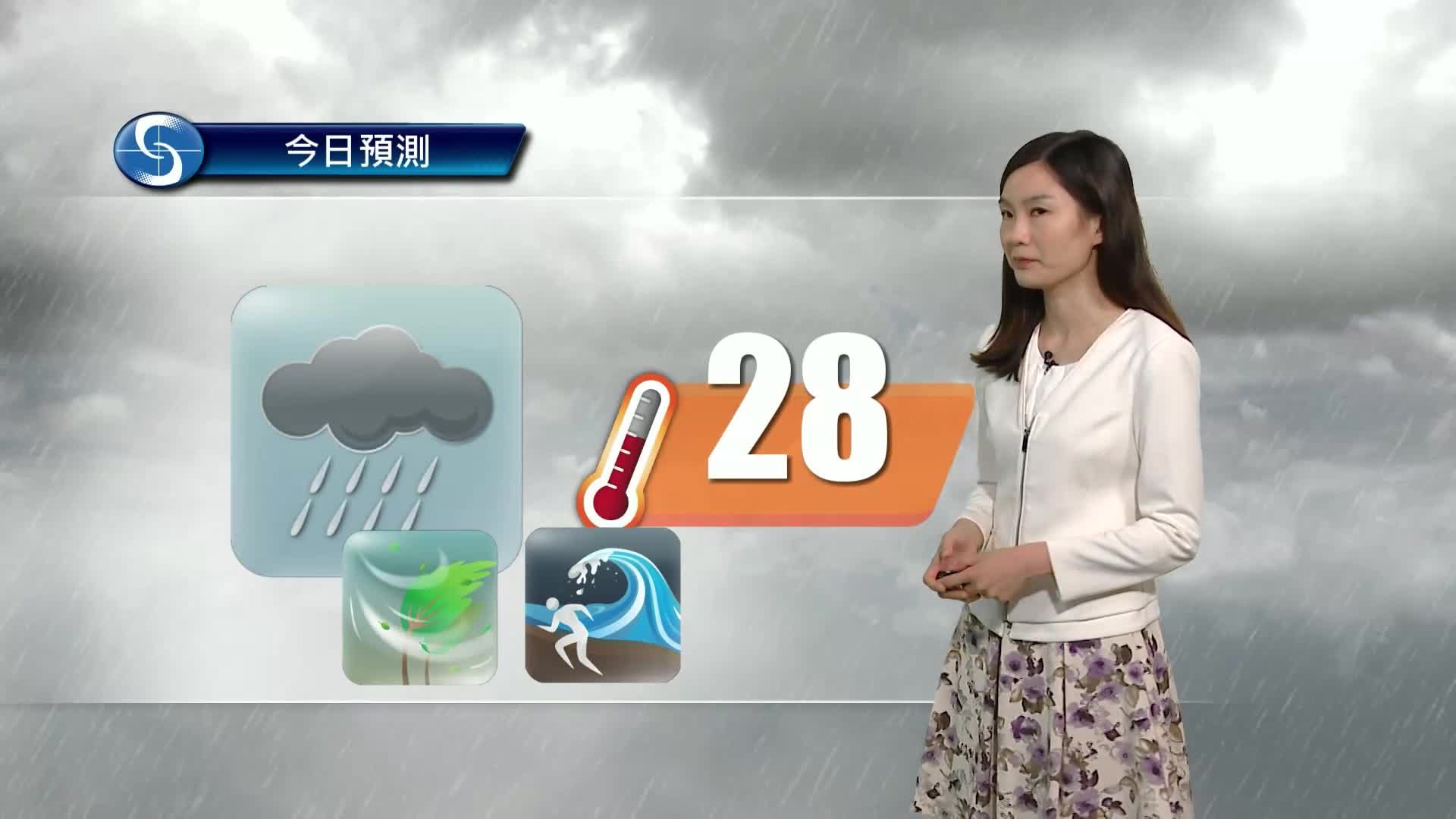 早晨天氣節目(07月20日上午8時) - 科學主任李鳳瑩