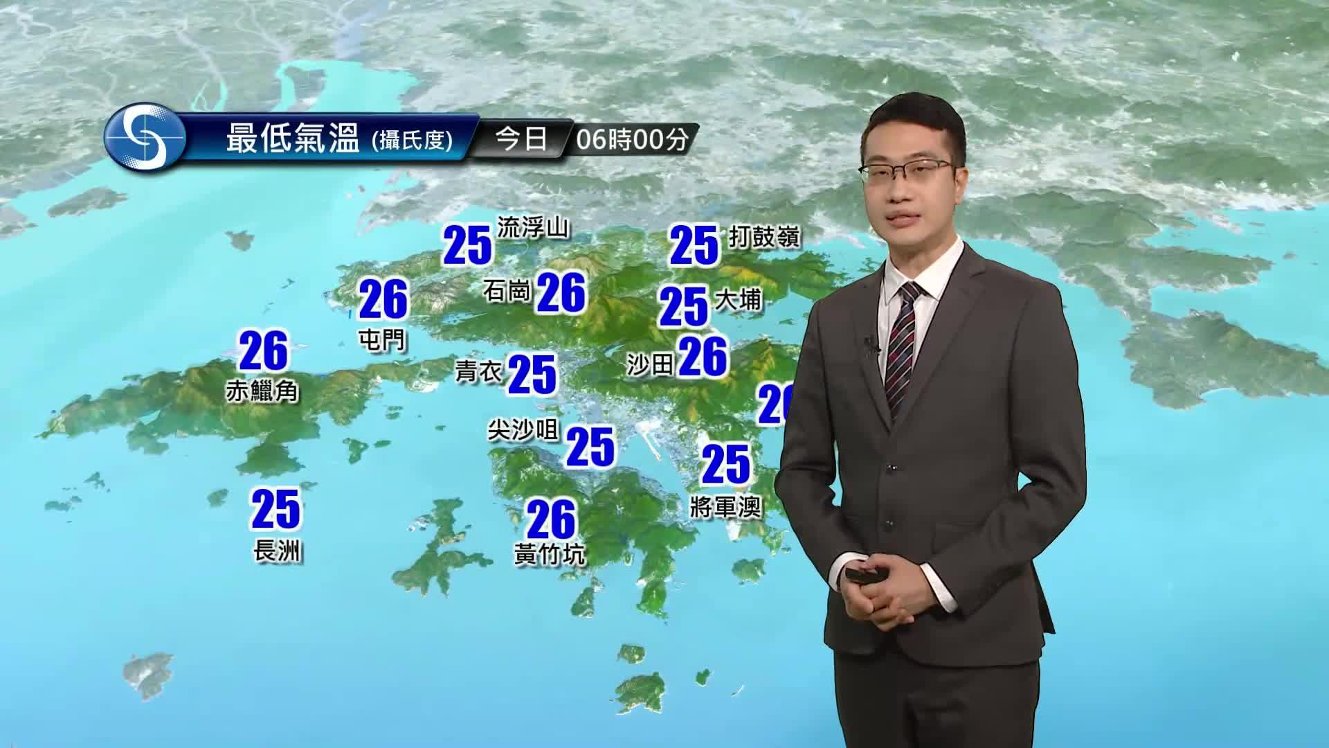 早晨天氣節目(07月21日上午7時) - 科學主任陳恩進