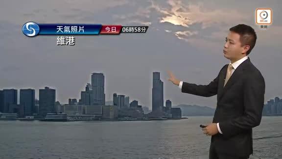 今日部分時間有陽光 天氣酷熱最高氣溫33°C