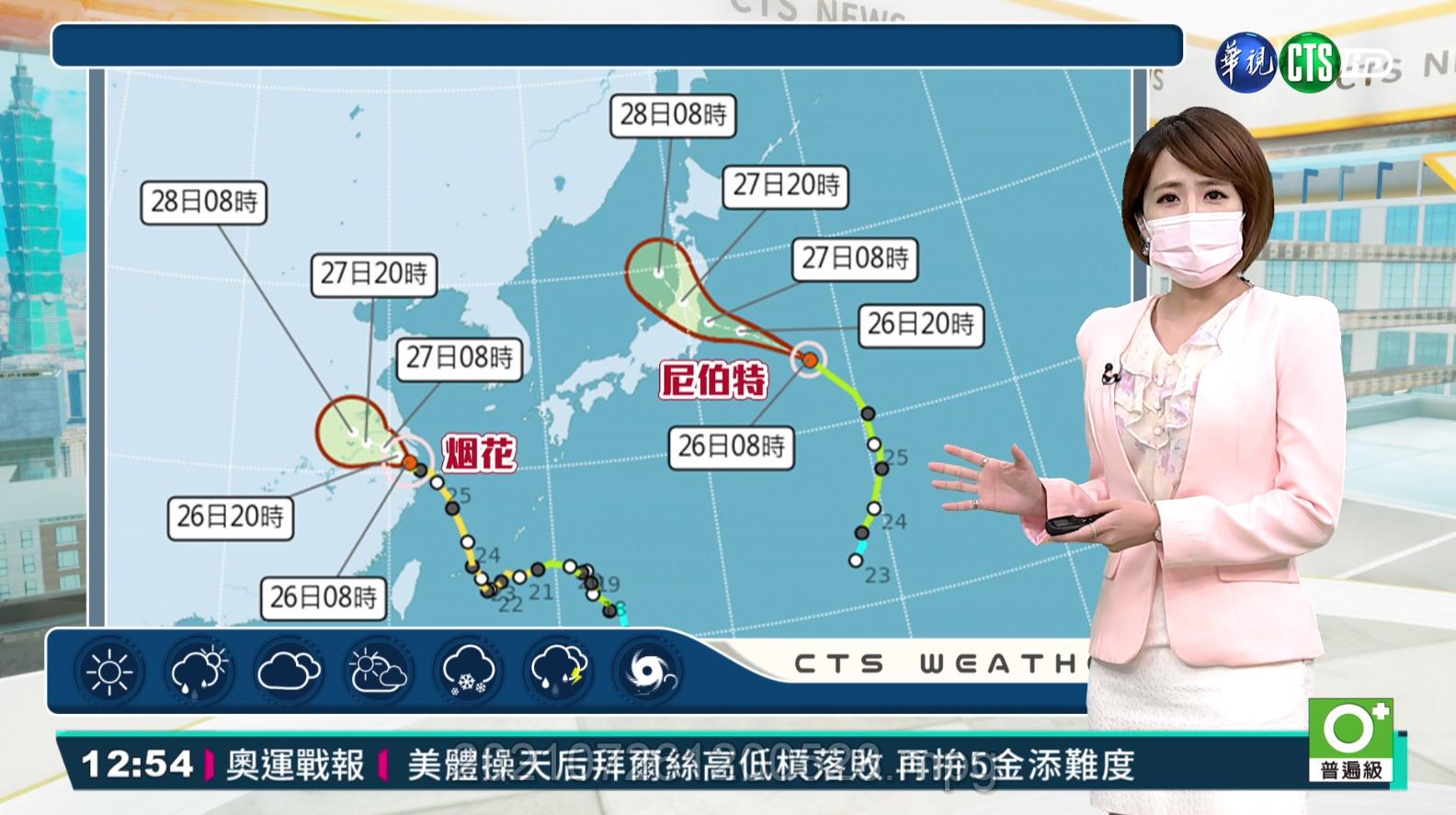 西南風苗栗以南多雨 北東炎熱東南部焚風