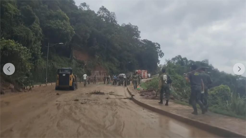馬祖芹壁村遭沖毀 百名國軍緊急出動救災
