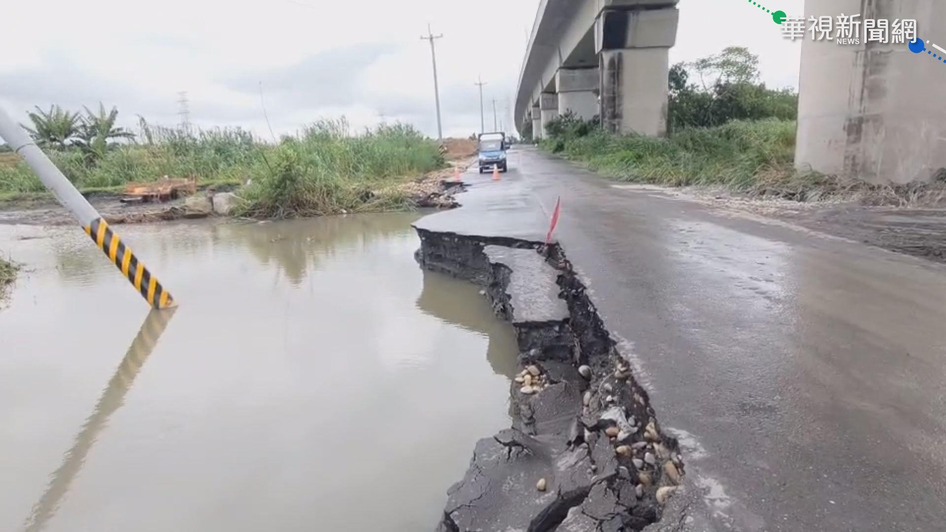 濁水溪暴漲沖垮便道 離高鐵橋墩僅10米