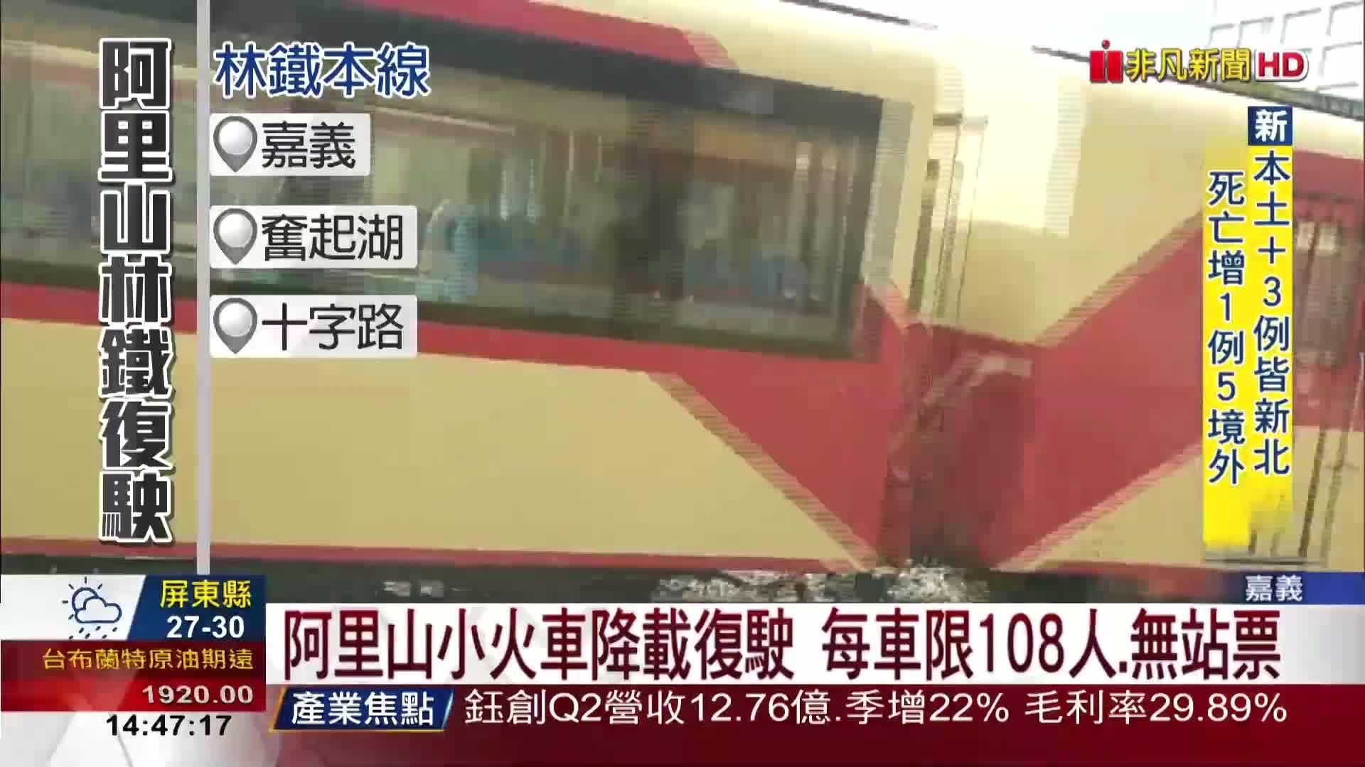 睽違3個月!阿里山小火車復駛 遊客:好興奮