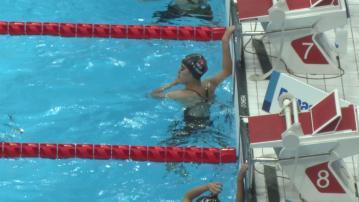 殘奧女子背泳第六名完成 陳睿琳:發揮一般