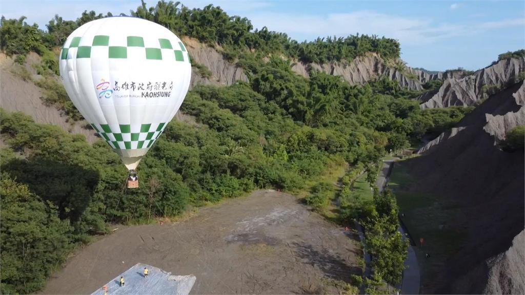 高雄月世界及愛河 熱氣球試飛成功