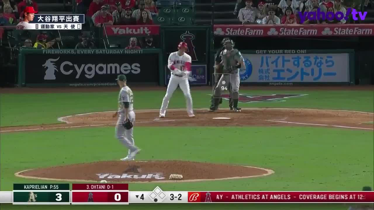 【MLB好球】James Kaprielian速球對決 讓大谷翔平揮棒落空吃K