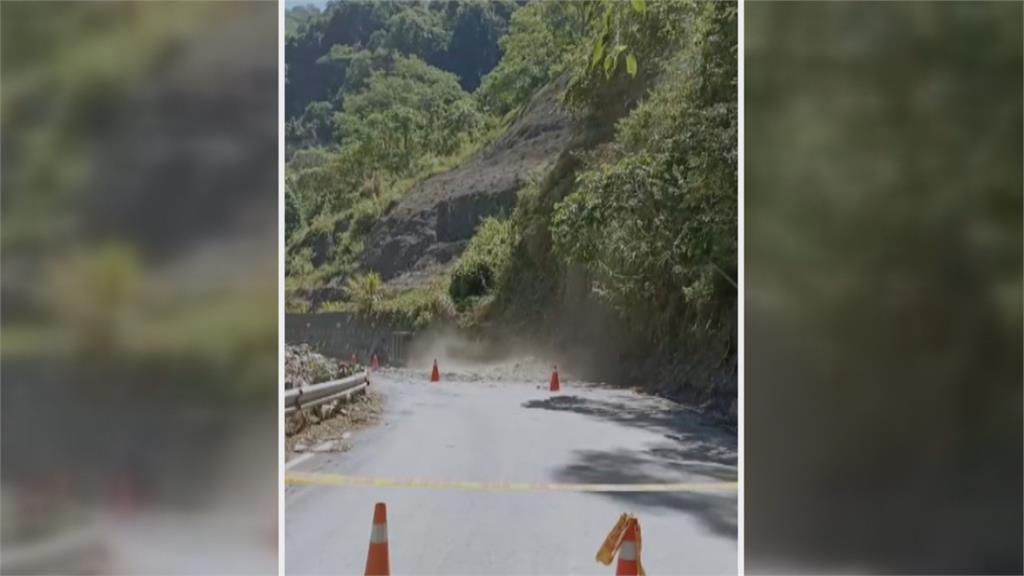 地震+溫差大 投83線14.3K邊坡土石崩塌「雙向封閉」