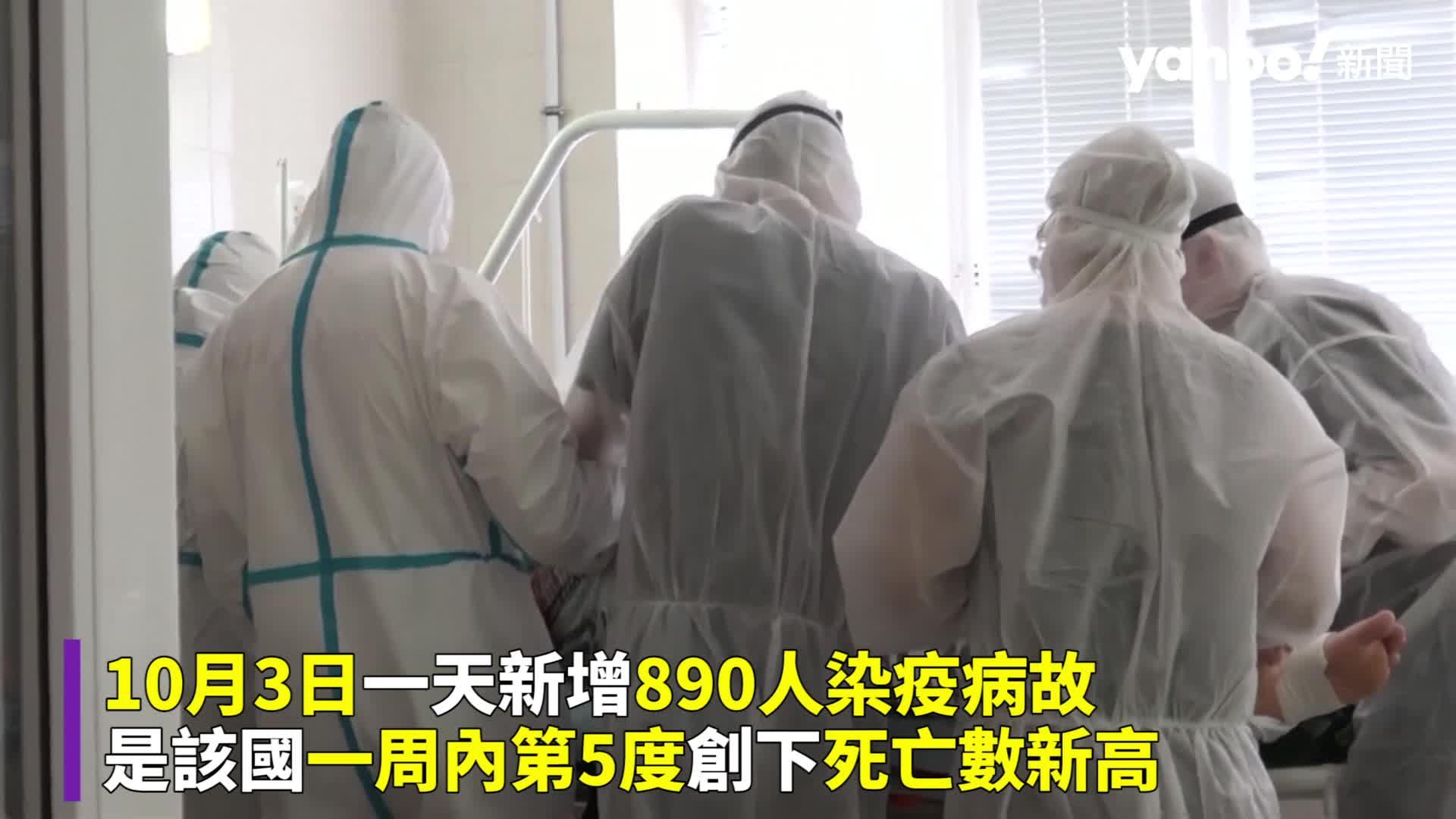 俄羅斯單日890人染疫亡 確診死亡一周5度創新高