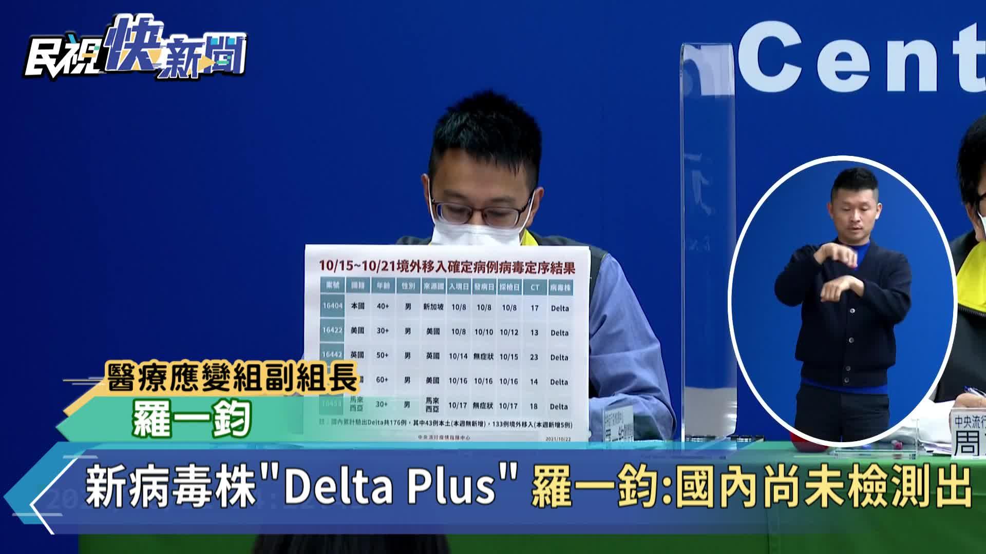 快新聞/新病毒株「Delta Plus」英國佔最多 羅一鈞:台灣尚未檢出