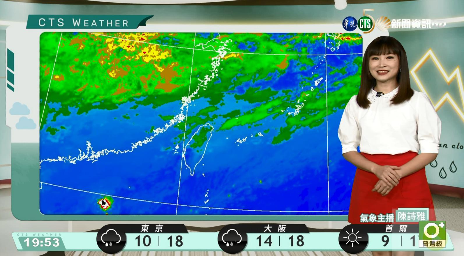 北東濕涼中南早晚涼 沿海離島風強浪大