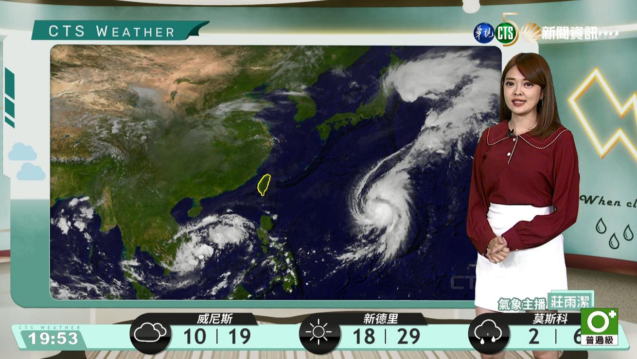 東北風環境迎風面局部雨 其他地區多雲到晴