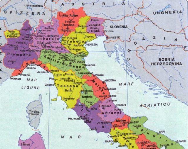 Italia Cartina Nord.Italia Nord Regge La Sfida Tedesca Sud Peggio Della Grecia
