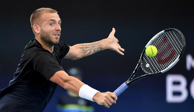 Dan Evans of Britain beat Moldova's Radu Albot at the ATP Cup