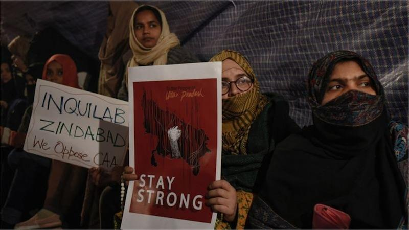 India Muslim women protest