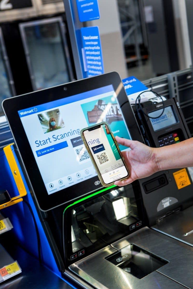 customer scanning app at walmart register