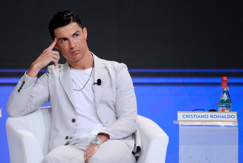 Soccer Football - Dubai Globe Soccer Awards - Madinat Jumeirah Resort, Dubai, United Arab Emirates - December 28, 2019 Juventus' Cristiano Ronaldo during a press conference REUTERS/Satish Kumar Subramani