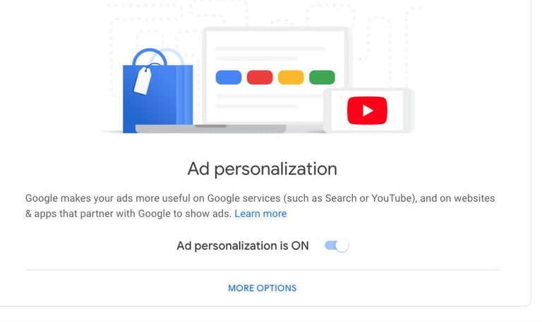 publicidad online como evitarla turn off google ad personalization 768x768