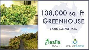 Aleafia Health Global Expansion:Upon closing of the acquisition, CannaPacific will begin retrofitting the greenhouse located in the iconic region of Byron Bay, NSW, Australia.
