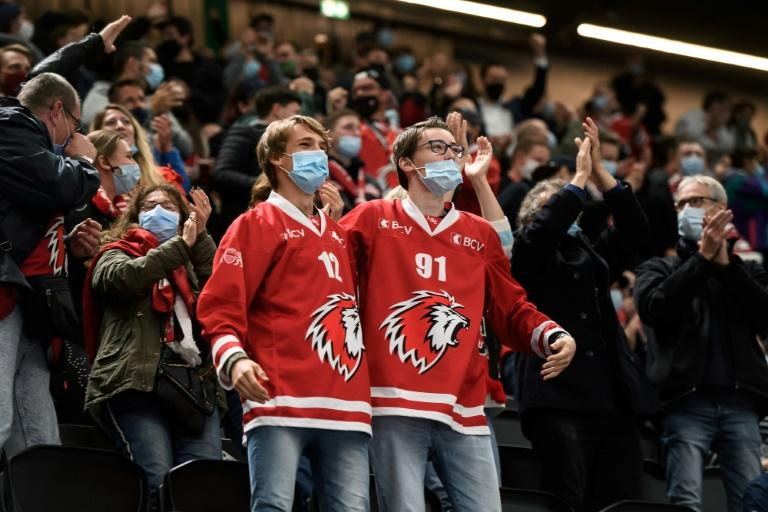 In Switzerland, stadium crowds have returned for the first time since the pandemic began