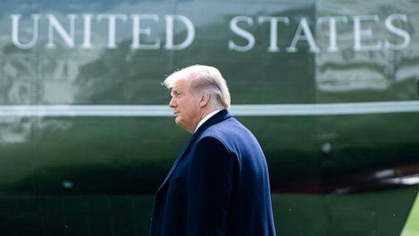 PHOTO: President Donald Trump walks to Marine One prior to departing from the South Lawn of the White House, Oct. 1, 2020, as he travels to campaign events in New Jersey. (Saul Loeb/AFP via Getty Images)