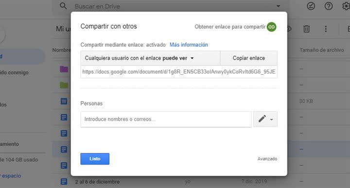 Cómo se comparten archivos en Google Drive