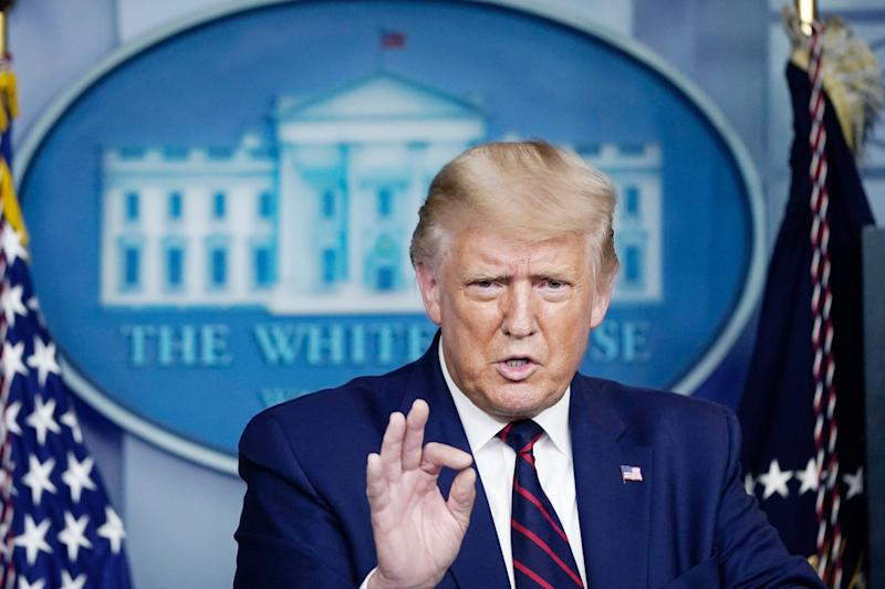 U.S. President Donald Trump speaks during a news conference the White House on September 4, 2020 in Washington, DC. (Photo: Drew Angerer/Getty Images)
