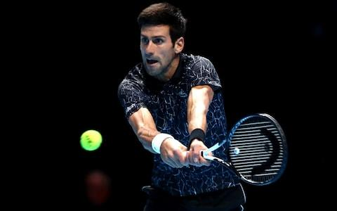 Novak Djokovic of Serbia plays a backhand during his singles final against Alexander Zverev of Germany during Day Eight of the Nitto ATP Finals at The O2 Arena on November 18, 2018 in London, England.  - Credit: Getty Images