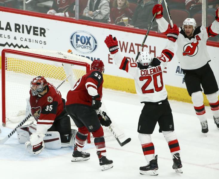 4a47f04bb8b New Jersey 3 - 2 Arizona: Final SO   2019-01-04   National Hockey ...