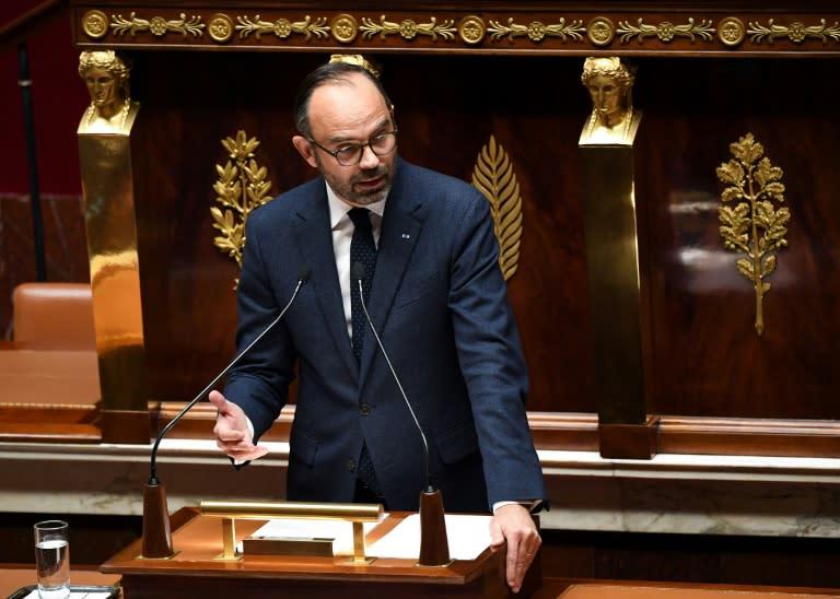 El primer ministro francés, Édouard Philippe, pronuncia un discurso ante la Asamblea Nacional, el 5 de diciembre de 2018 en París