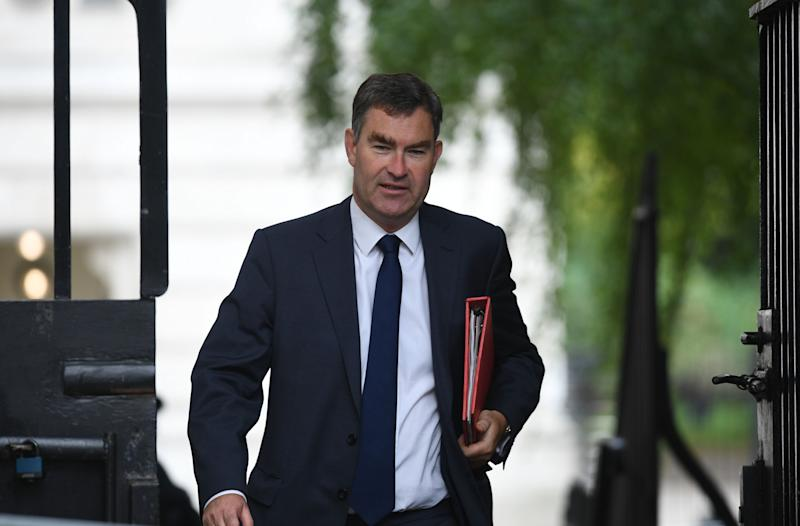Work and Pensions Secretary David Gauke arriving in Downing Street, London, for a Cabinet meeting.