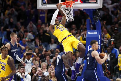 La Lakers 119 110 Dallas Final Ot 2019 11 01 National
