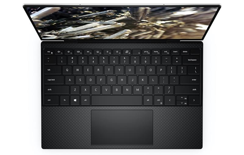 The updated XPS 13 has a wider keyboard than prior generations. (Image: Dell)