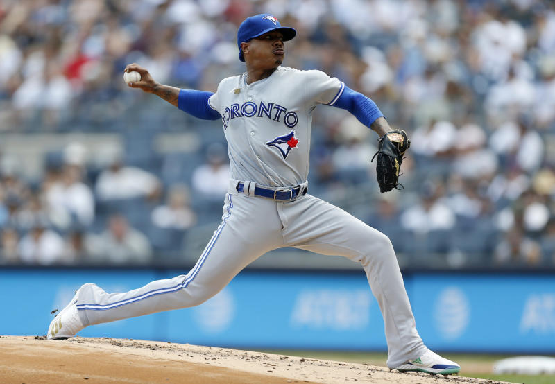 Toronto Blue Jays star Marcus Stroman is rejecting the idea that he's on the trade block because of his personality. (Getty Images)